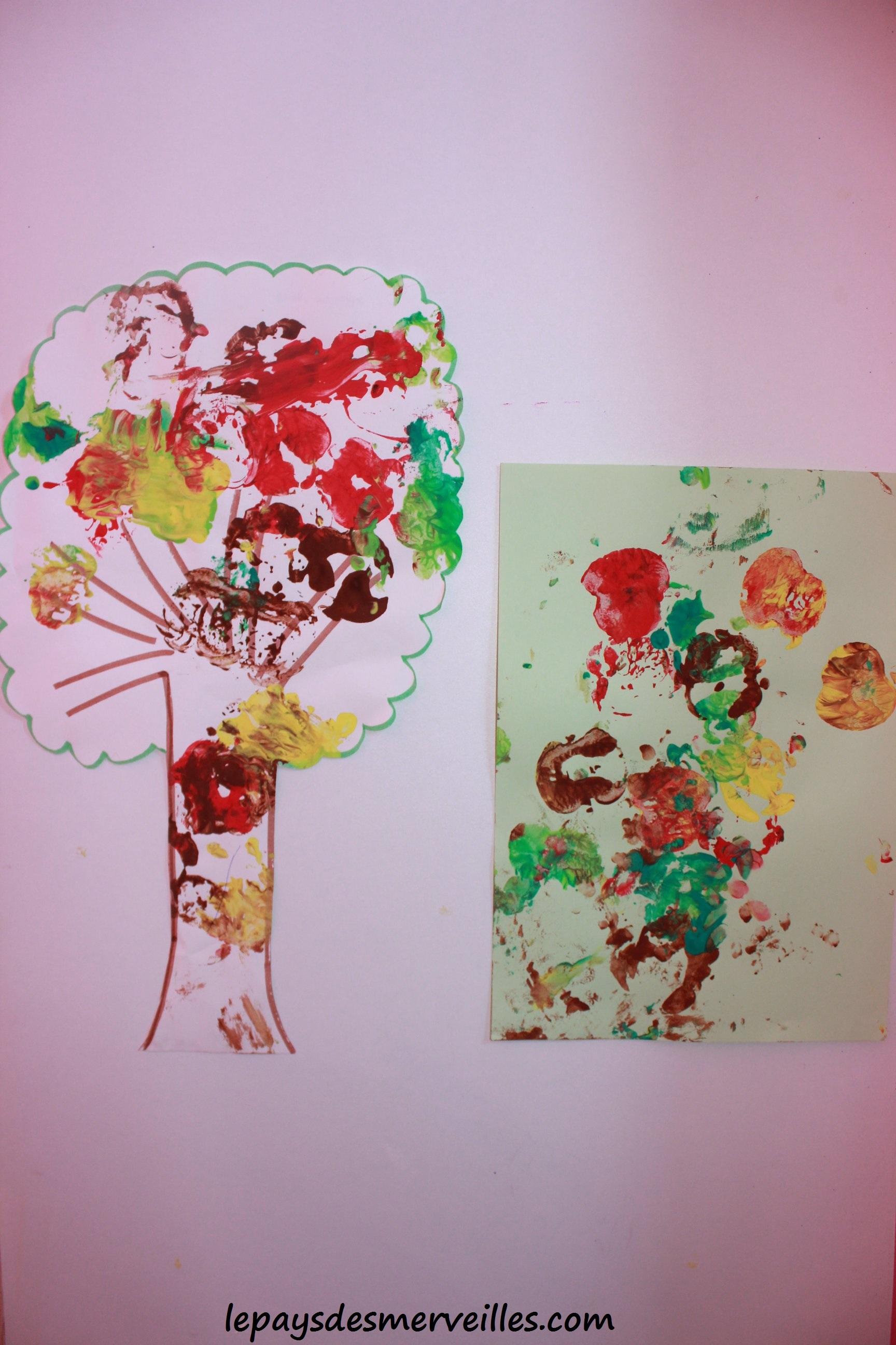 bricolage d 39 automne peindre avec une pomme le pays. Black Bedroom Furniture Sets. Home Design Ideas