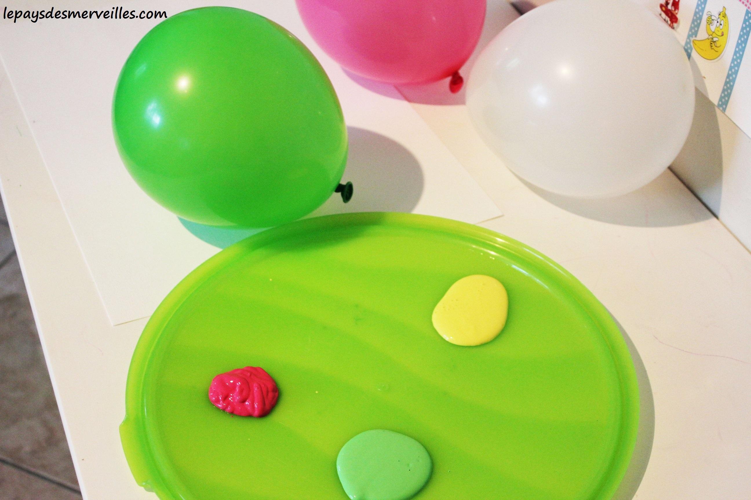 Peindre avec un ballon de baudruche le pays des - Comment degonfler un ballon ...