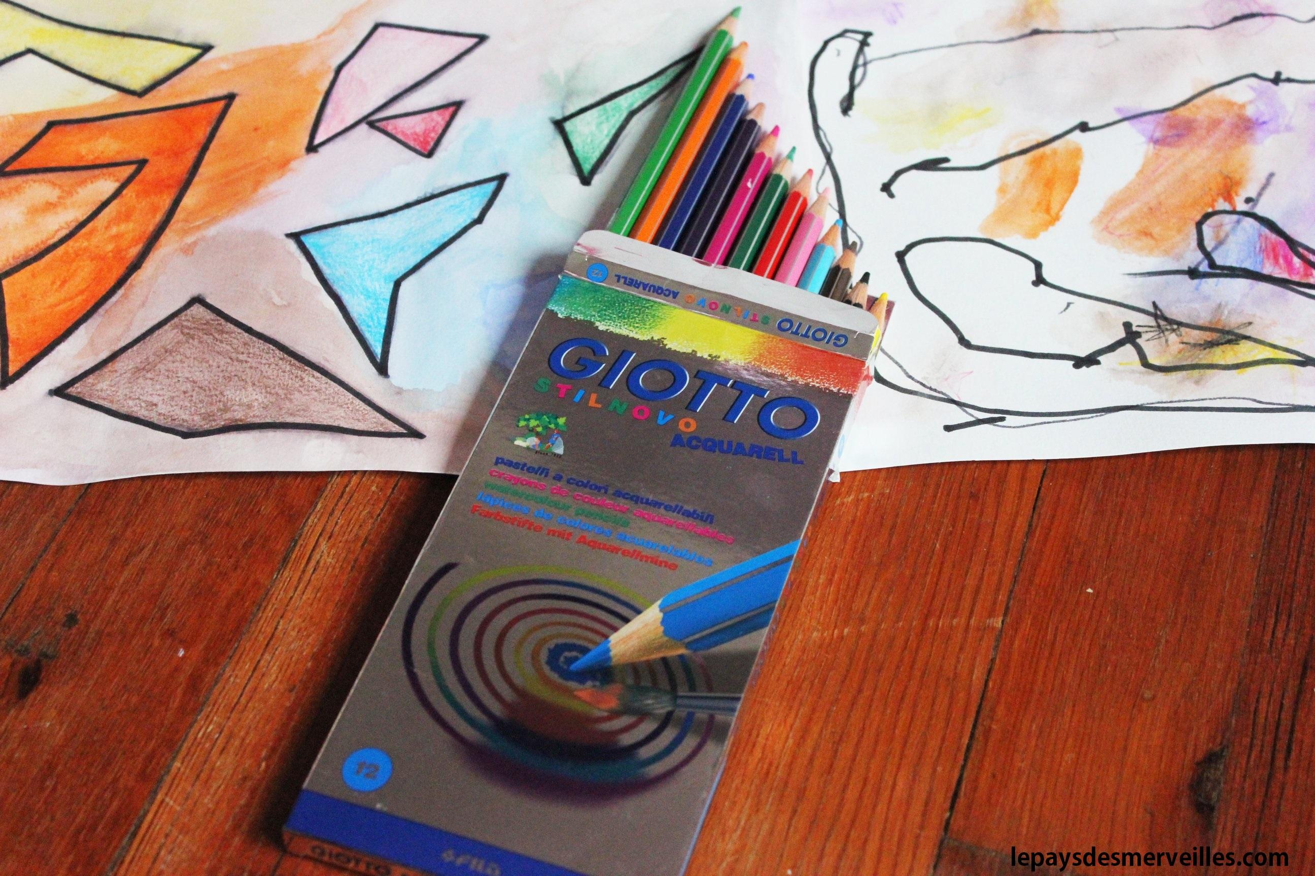 dessiner avec des points test crayons de couleur aquarellable giotto le pays des. Black Bedroom Furniture Sets. Home Design Ideas