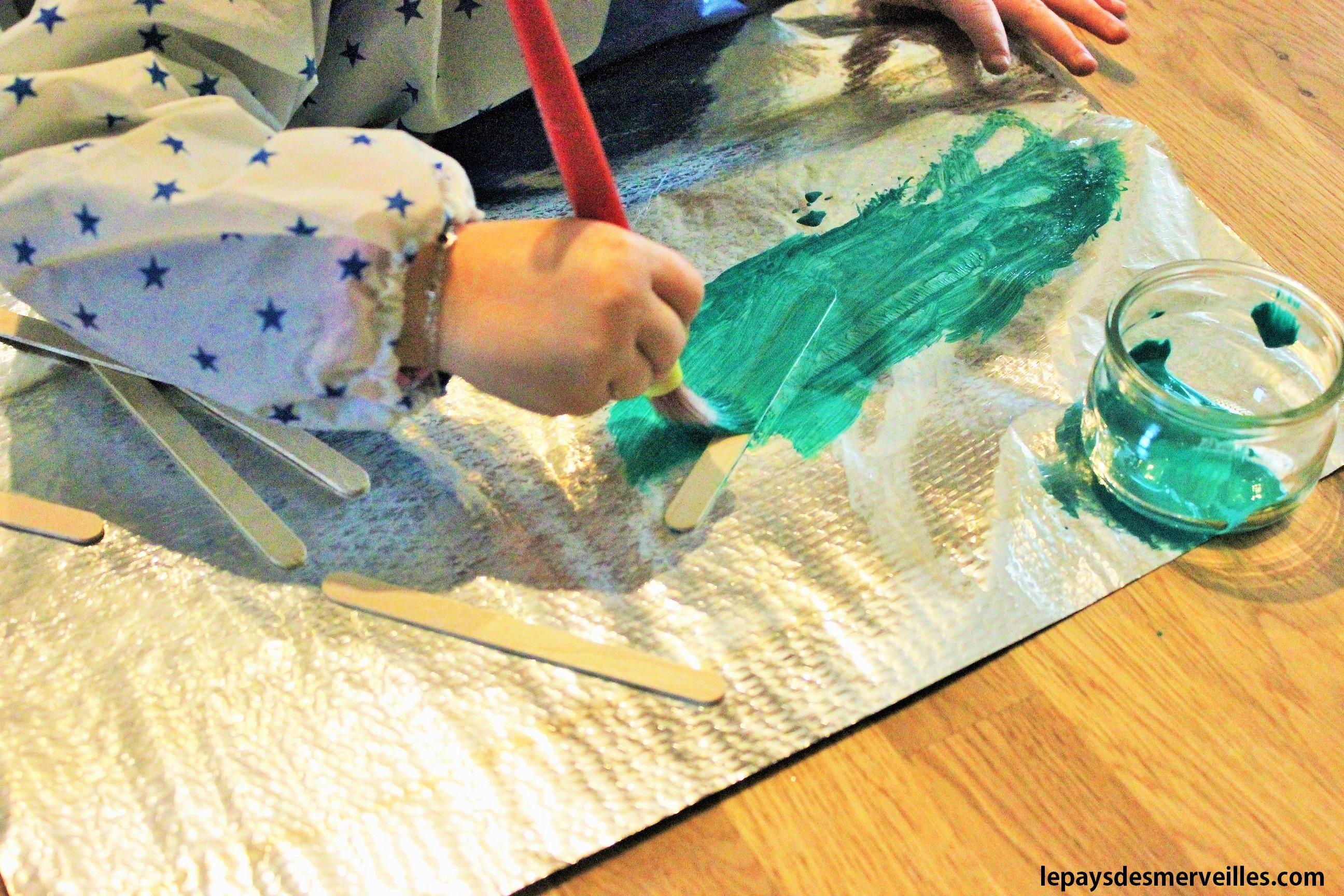 Nos activit s manuelles de no l 7 des sapins faits avec - Bricolage enfant noel ...