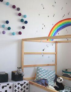 decoration chambre arc en ciel