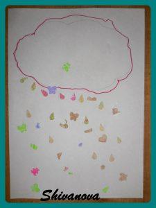 dessin nuage goutte enfant