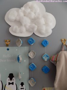 mobile nuage DIY