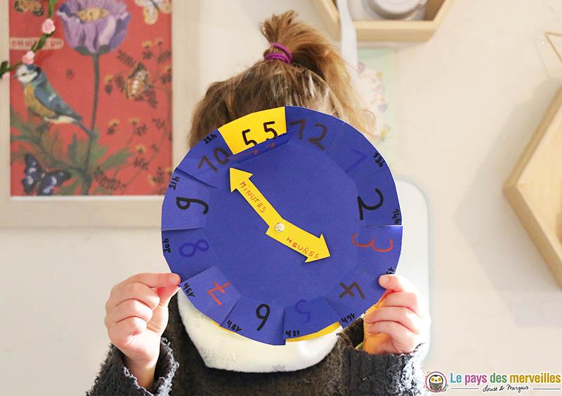 DIY horloge Montessori