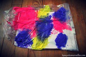 Sac peinture propre fin de l'activité