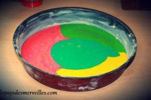 gateau au yaourt arc en ciel (7)