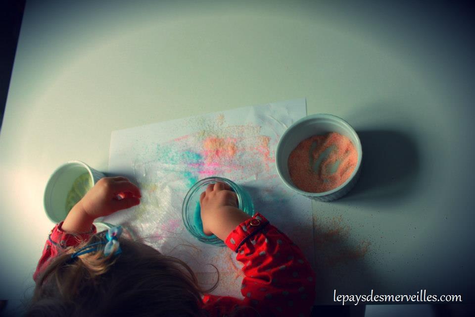 activité sensorielle avec du sel