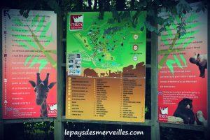 Zoo de cerza panneau affichage