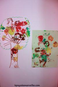 Bricolage automne peindre avec une pomme 220913 (2)