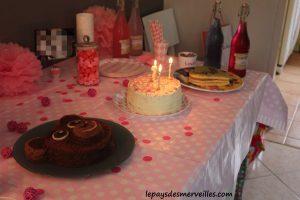 table anniversaire 2 ans fille