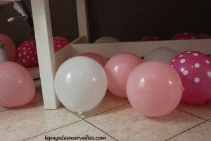 ballon de baudruche anniversaire rose