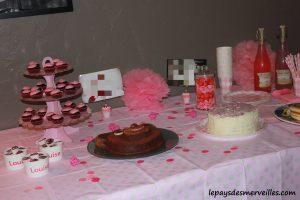 Anniversaire 2 ans déco de table rose