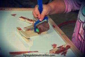 Herisson pinces a linge - bricolage enfant (3)