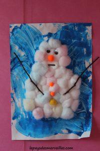 Bonhomme de neige en coton 1