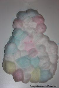 activité bonhomme de neige avec du coton et peinture (10)