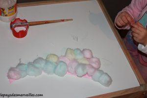 activité bonhomme de neige avec du coton et peinture (20)