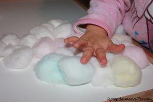 activité bonhomme de neige avec du coton et peinture (9)