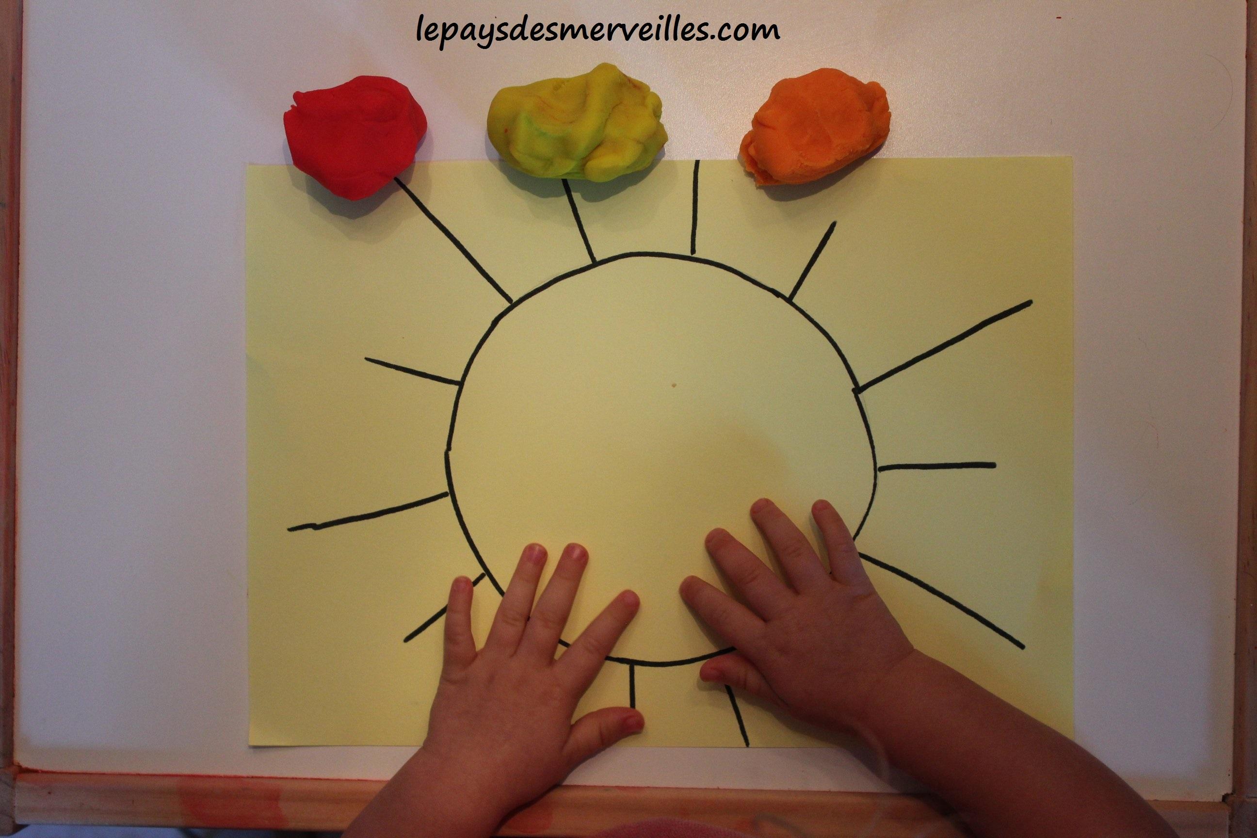 activit 233 p 226 te 224 modeler faire un soleil 176 176 le pays des merveilles