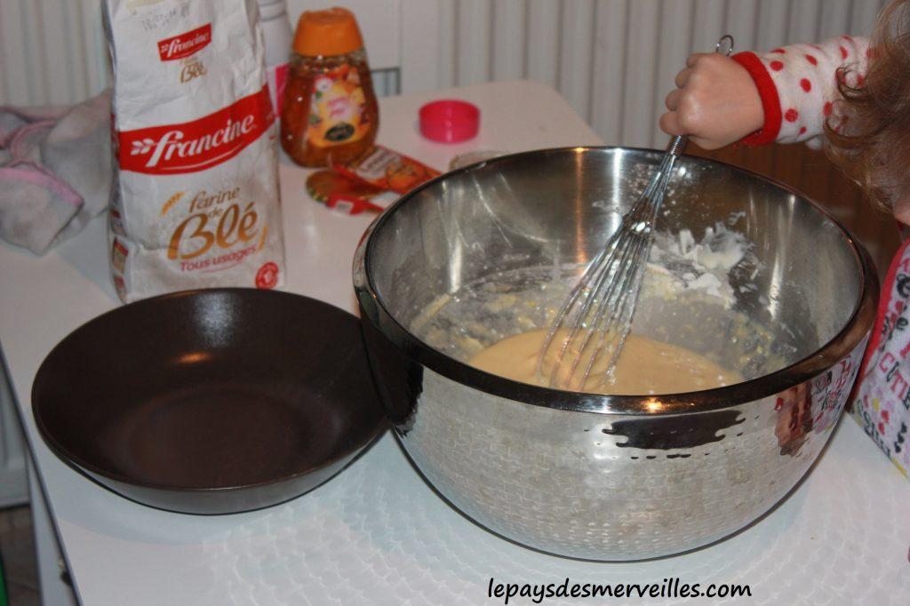 Recette gateau vanille chocolat miel (1)