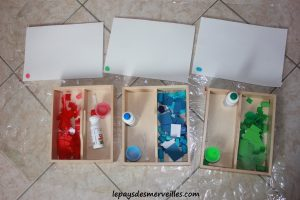 Activité sur les couleurs - Tri, collage et peinture (5)