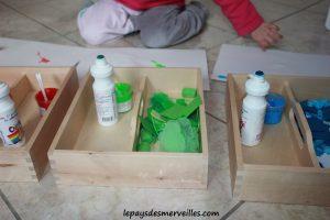 Activité sur les couleurs - Tri, collage et peinture (6)