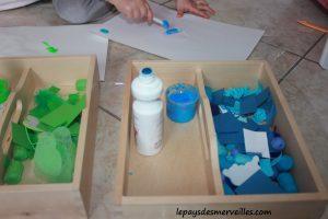 Activité sur les couleurs - Tri, collage et peinture (7)