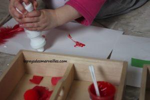 Activité sur les couleurs - Tri, collage et peinture (8)