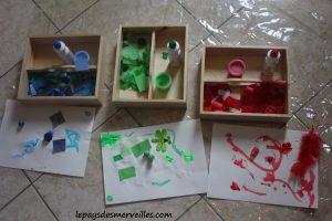 Activité sur les couleurs - Tri, collage et peinture (9)