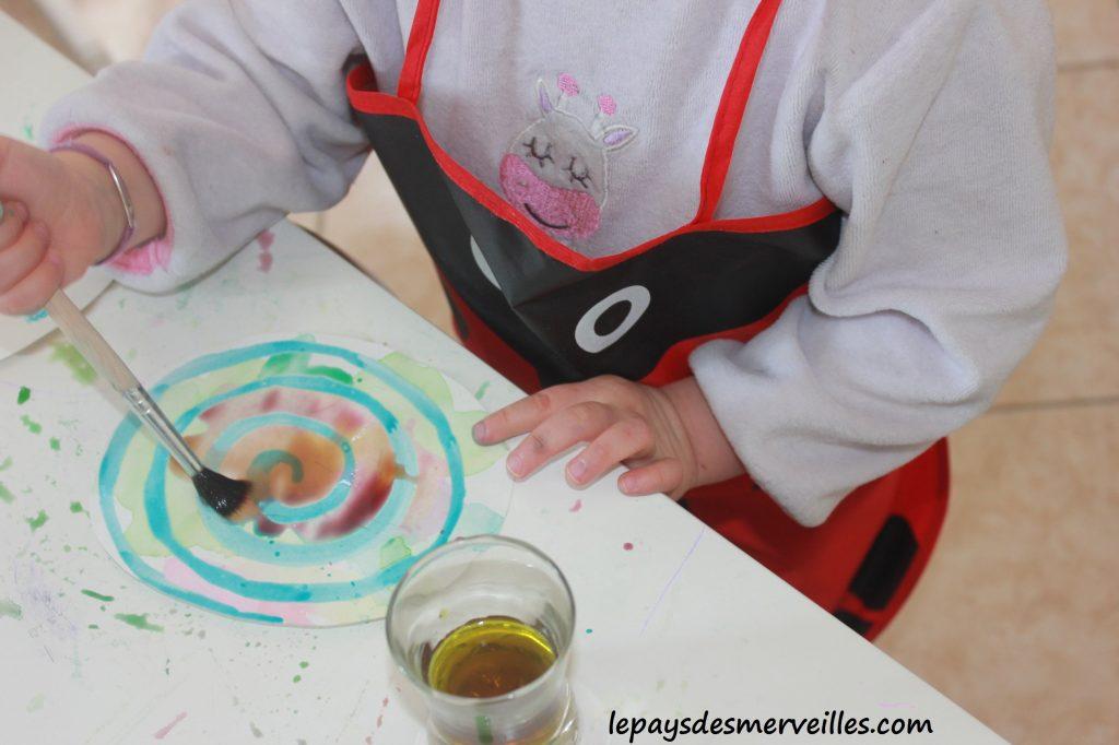 Guirlande de paques - Liquide à masquer et encre - activité pour paques (11)