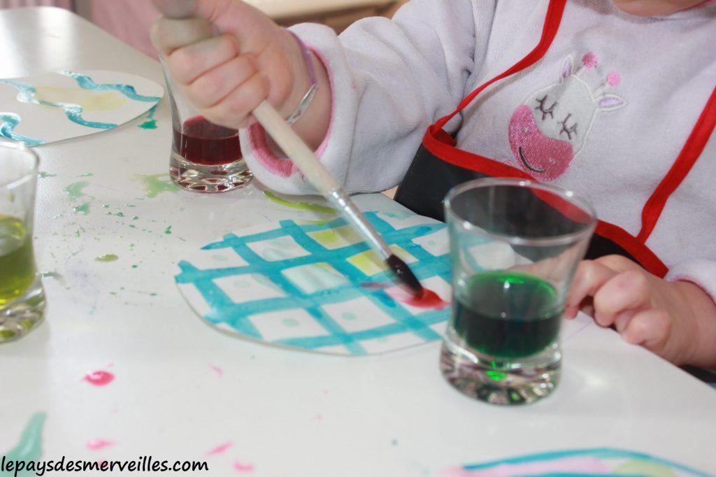 Guirlande de paques - Liquide à masquer et encre - activité pour paques (8)