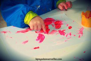 Bricolage coeur peinture - bricolage fête des pères fête des mères (11)