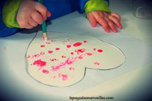 Bricolage coeur peinture - bricolage fête des pères fête des mères (3)