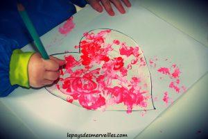 Bricolage coeur peinture - bricolage fête des pères fête des mères (4)