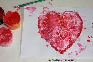 Bricolage coeur peinture - bricolage fête des pères fête des mères (5)