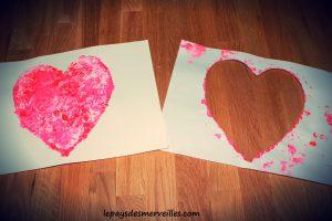 Bricolage coeur peinture - bricolage fête des pères fête des mères (6)