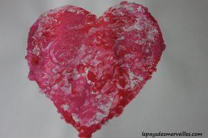 Bricolage coeur peinture - bricolage fête des pères fête des mères (8)