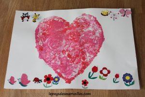 Bricolage coeur peinture - bricolage fête des pères fête des mères (9)
