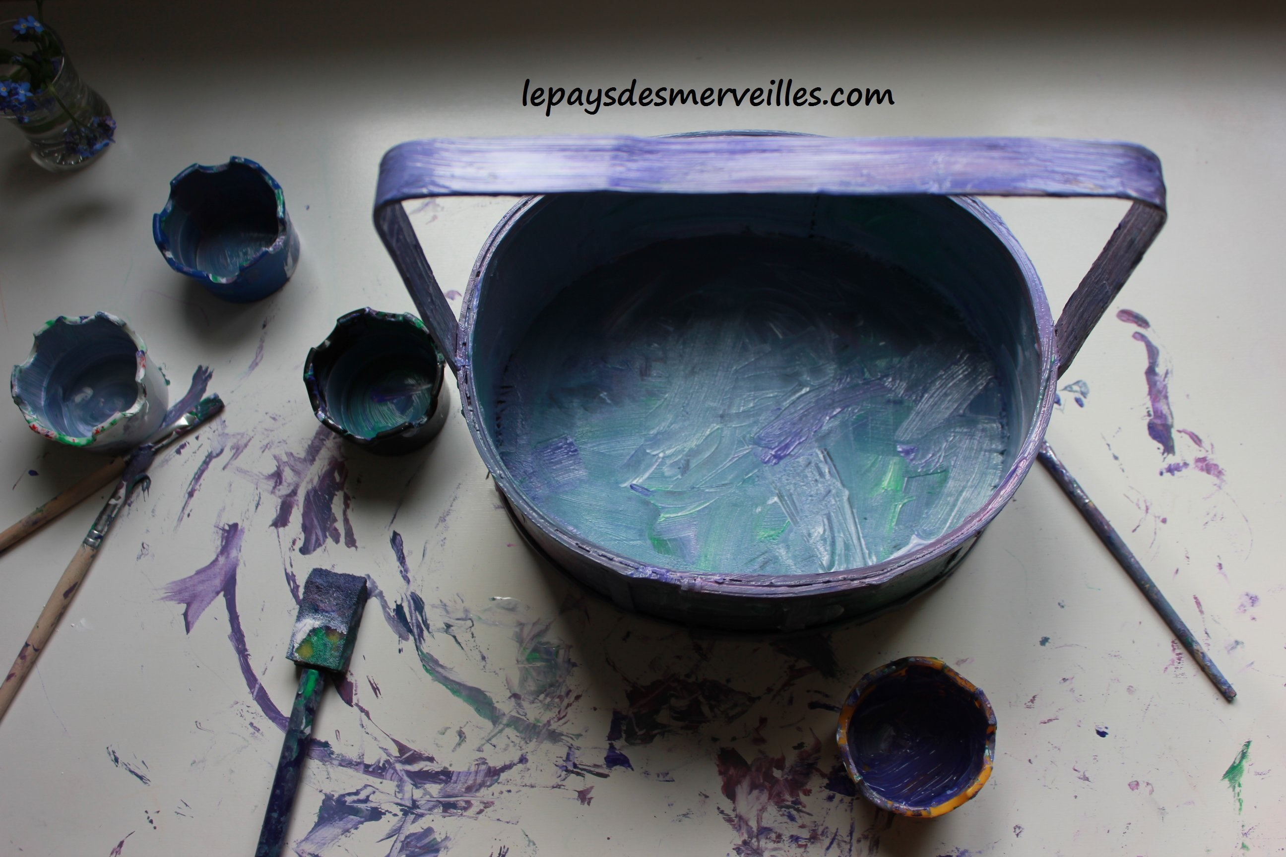 Bricolage panier de paques peinture (4)