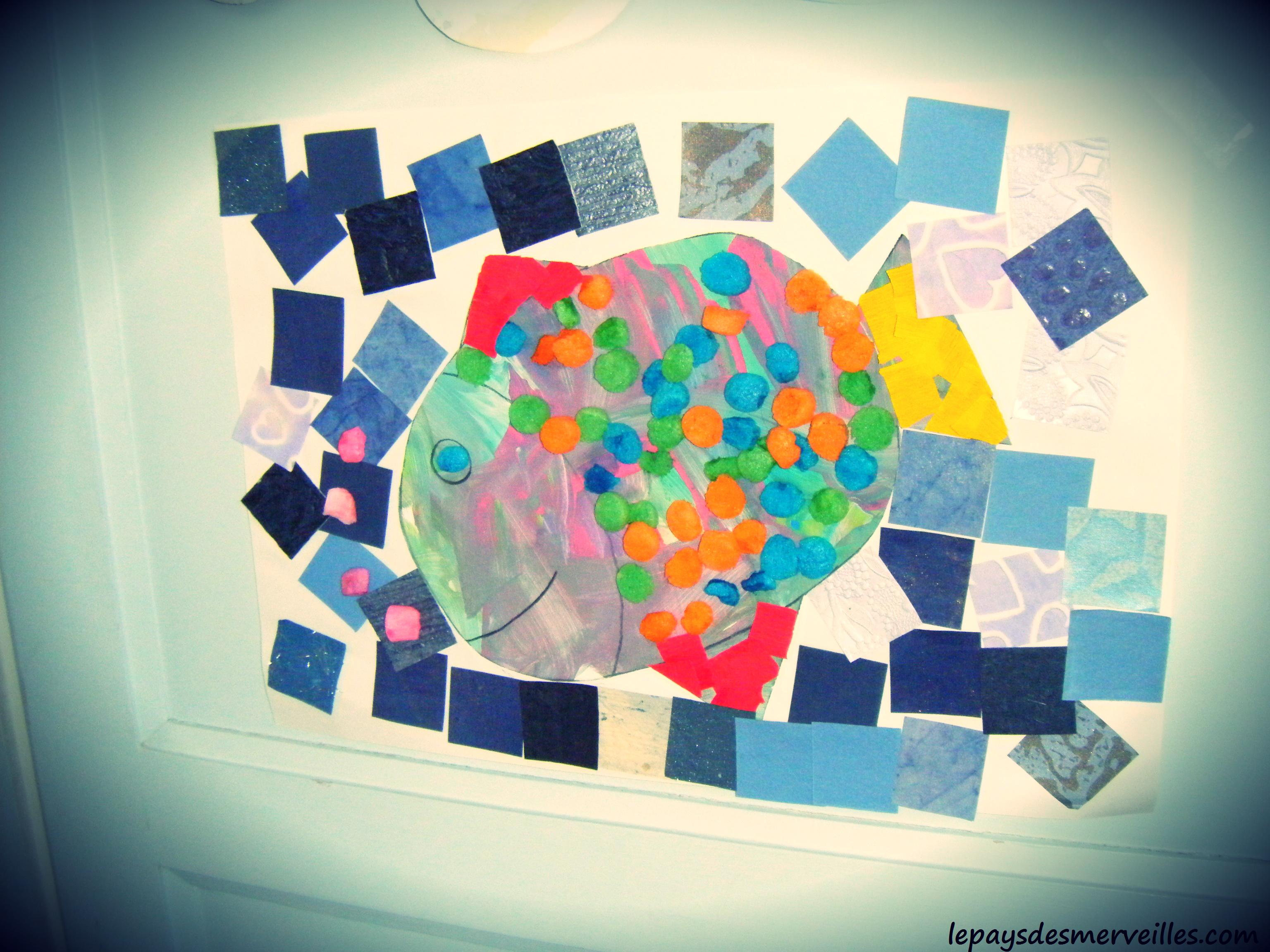 Poisson d 39 avril peinture collage playmais le pays des merveilles - Poisson avril maternelle ...