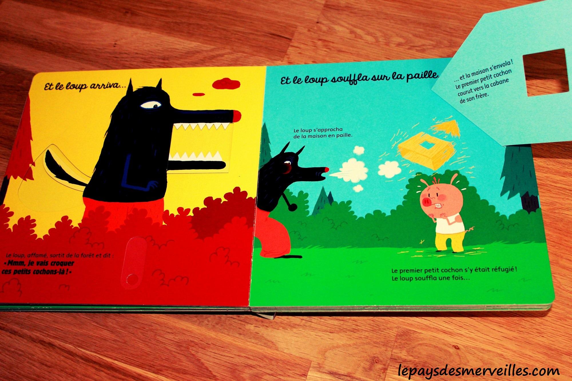 les trois petits cochons livre animé editions tourbillon
