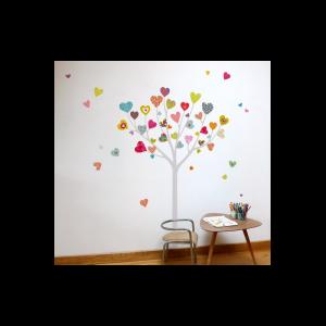stickers enfant arbre coeurs