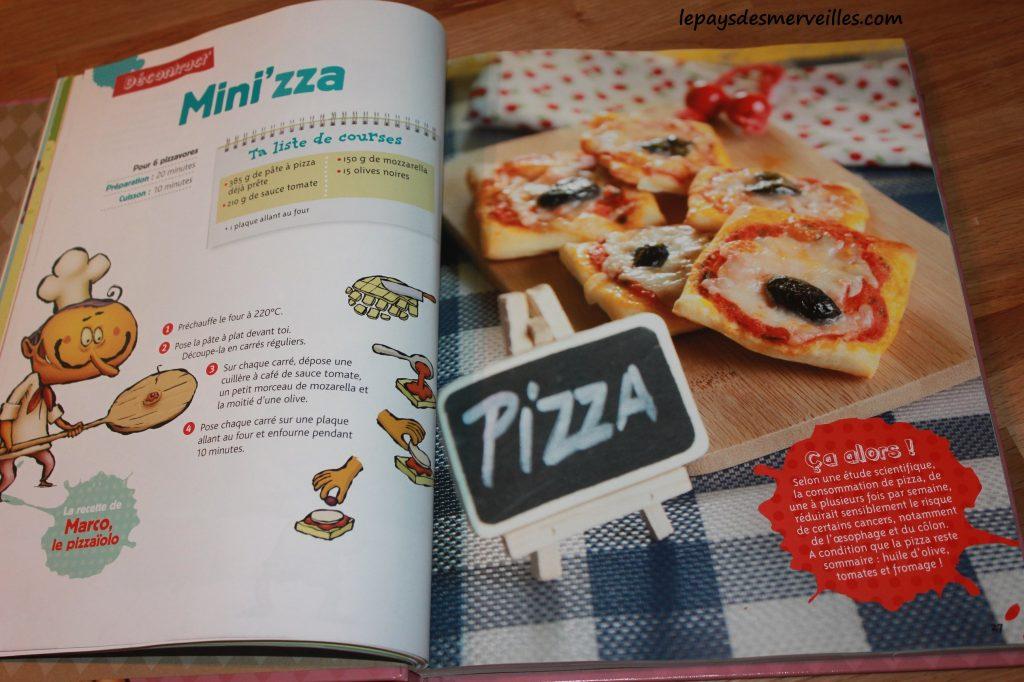 Graine de cuistot - Recette mini pizza