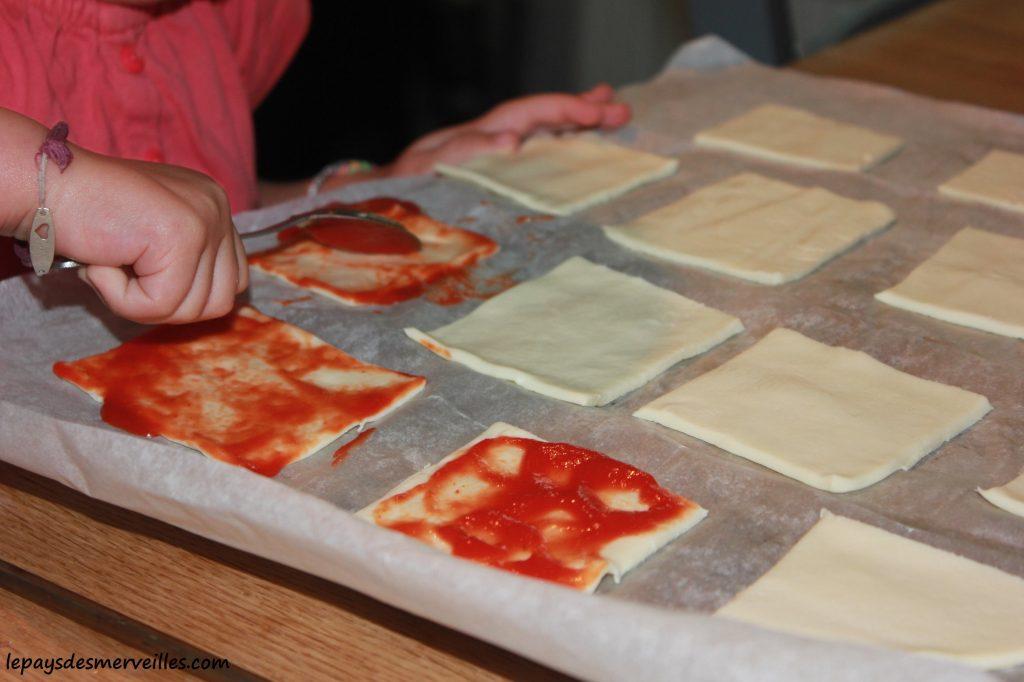 Graine de cuistot - Recette mini pizza (3)