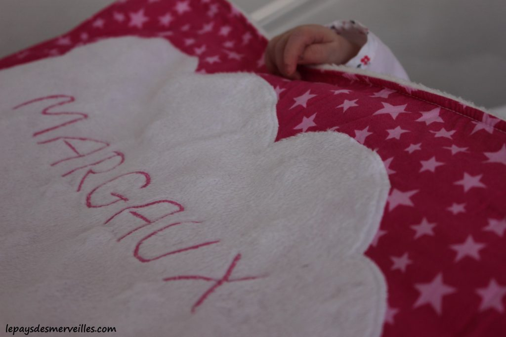 Couverture naissance bebe personnalisee