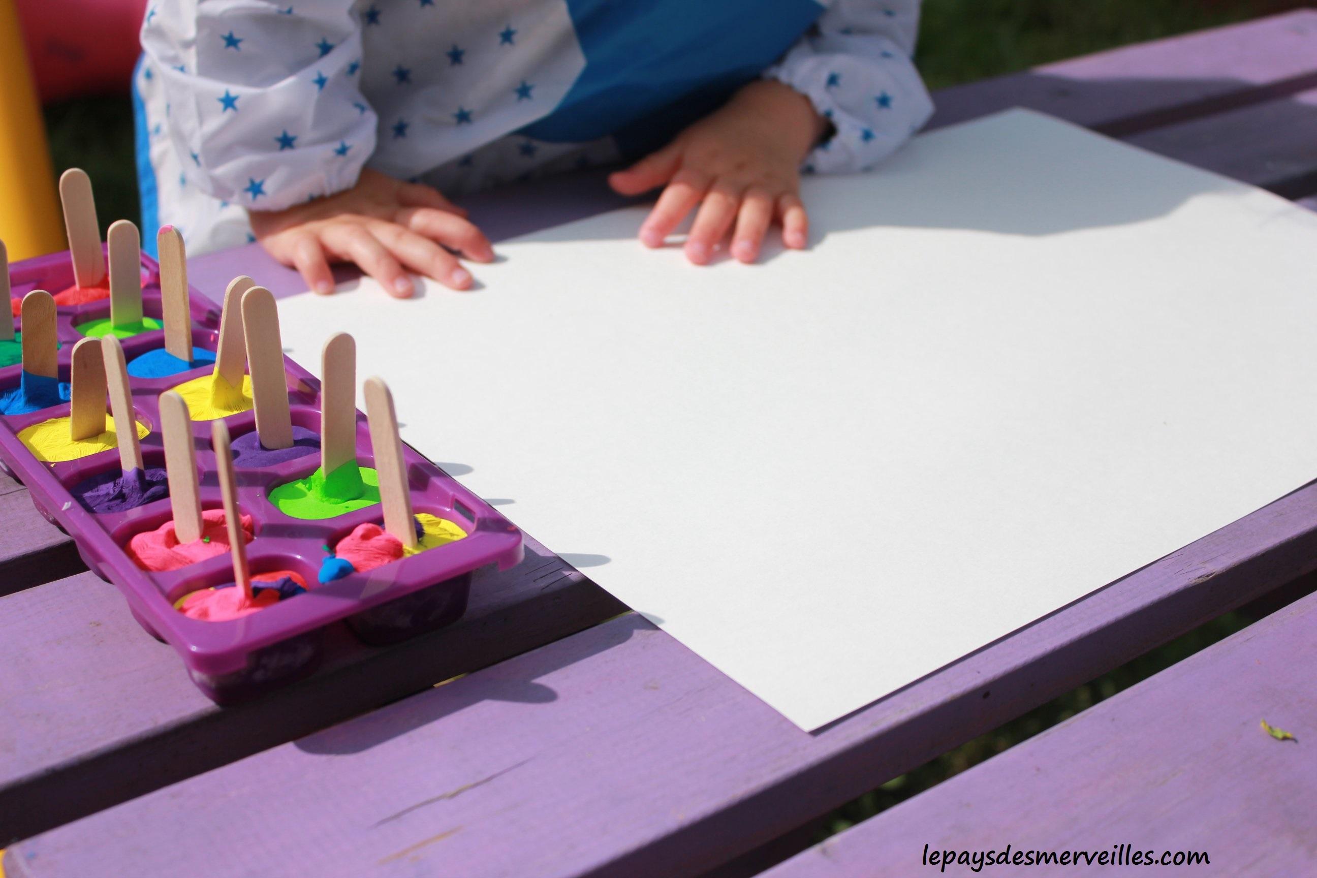 Activite Enfant 1 An : peindre avec des gla ons de gouache une activit ~ Melissatoandfro.com Idées de Décoration