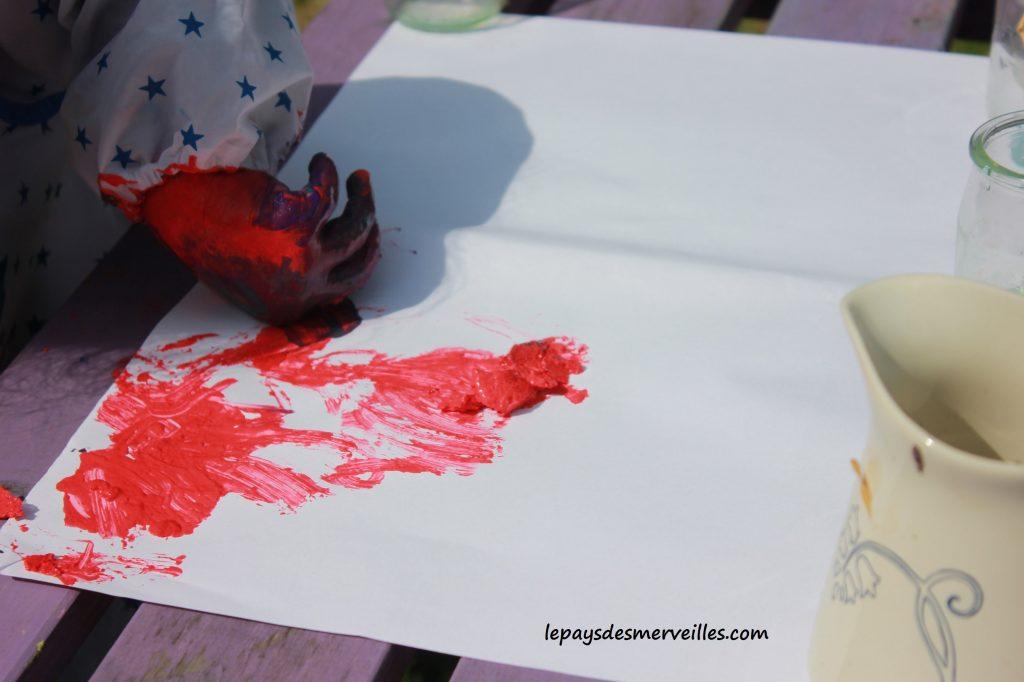 Peinture glaçons gouache - activité manuelle enfant (13)