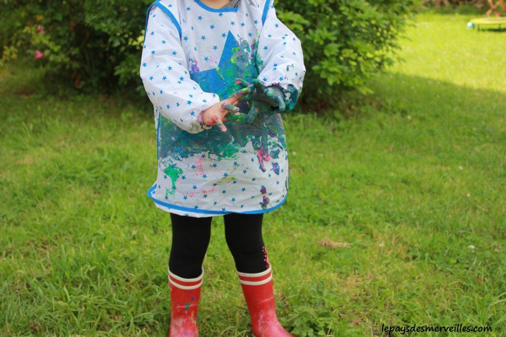 Peinture glaçons gouache - activité manuelle enfant (20)