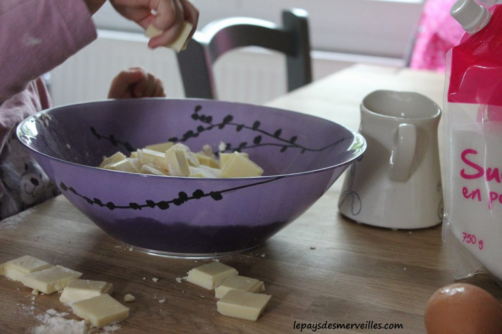 recette muffins au chocolat blanc (3)