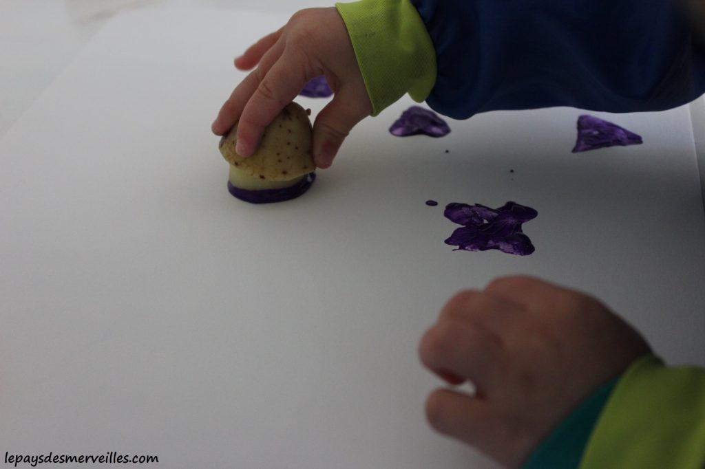 Des tampons avec des pommes de terre (3)
