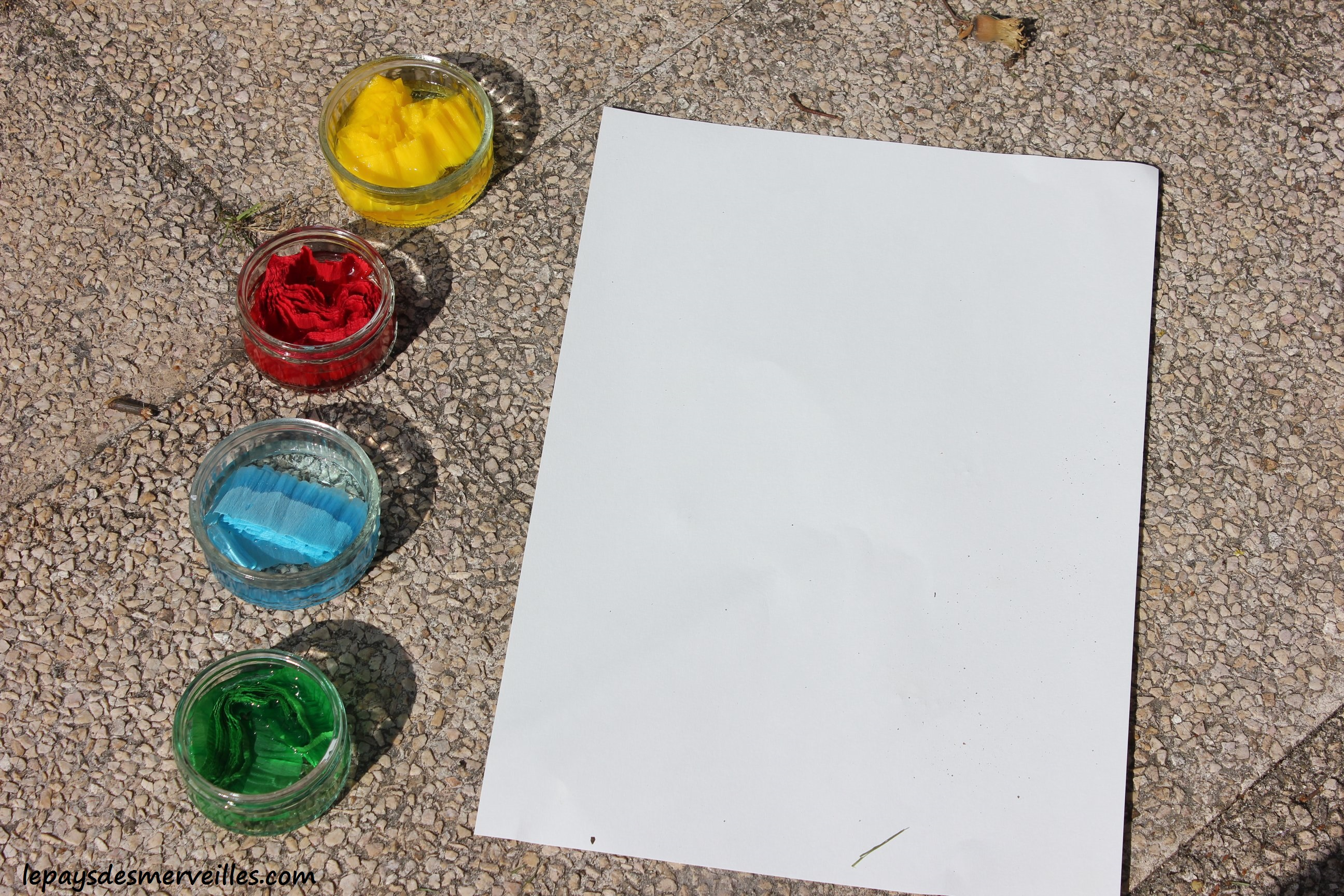 Papier A Peindre Epais peindre avec du papier crépon - peinture aquarelle - le pays